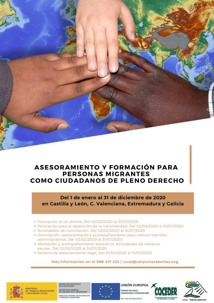 Asesoramiento y formación para personas migrantes como ciudadanos de pleno derecho